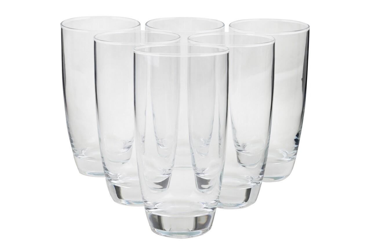 Set 6 pahare Fantasy, Pasabahce, 15.5 x 5.05 x 8 cm, sticla, transparent