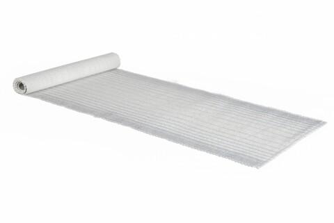 Traversa pentru masa  Country, Heinner Home, 33 x 120 cm, 100% bumbac jacquard, alb/gri
