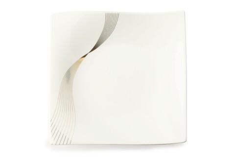Farfurie patrata pentru desert, Maxwell & Williams, Frequency, 18x18 cm, portelan