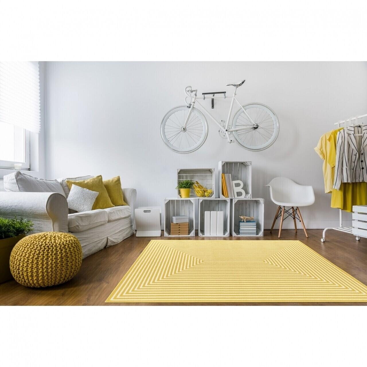 Covor indoor outdoor Floorita BRAID YELLOW 160X230