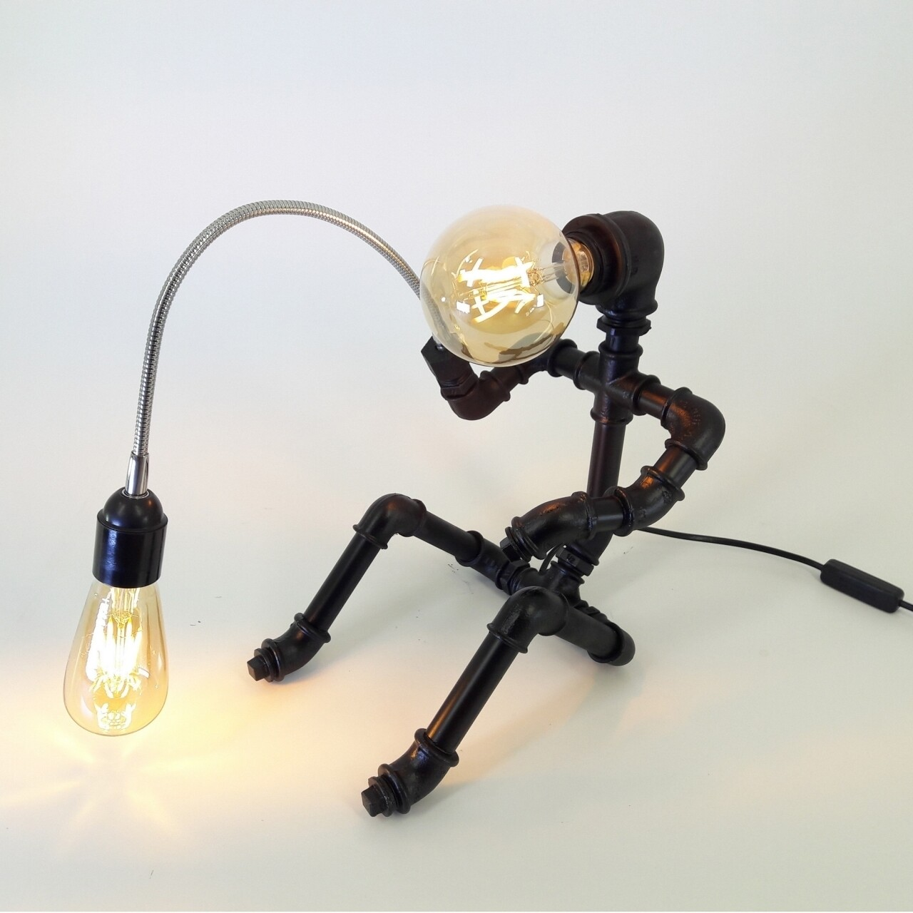 Lampa de masa All Design, metal, 18x32 cm, Black