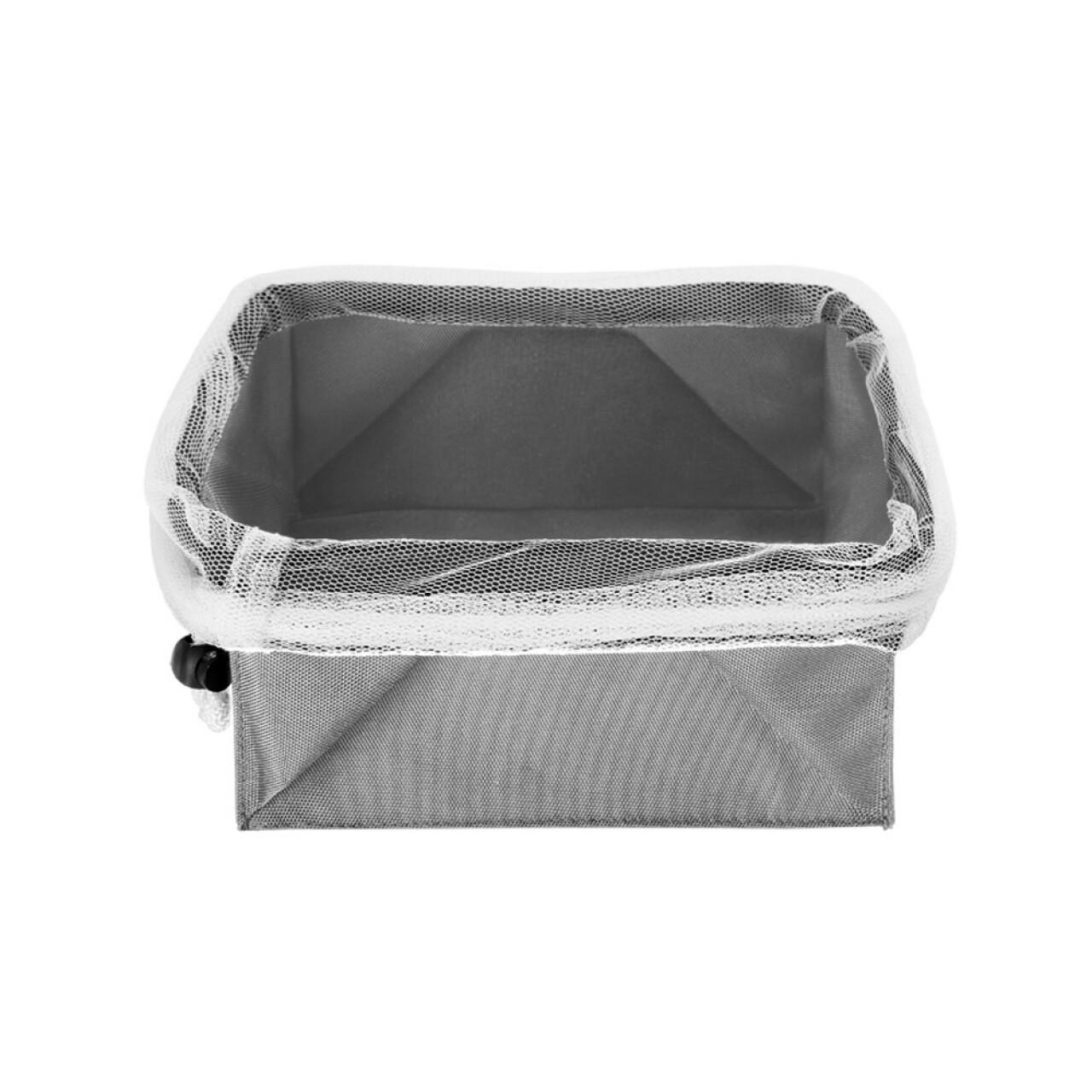 Cutie pliabila pentru depozitare Metaltex, 23 x 23 cm, poliester/poliamida, gri
