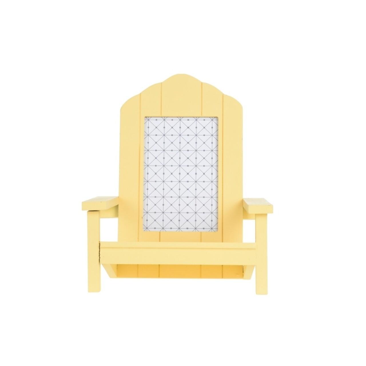 Ramă foto Beach Chair, 20 x 19 x 23 cm, MDF, galben