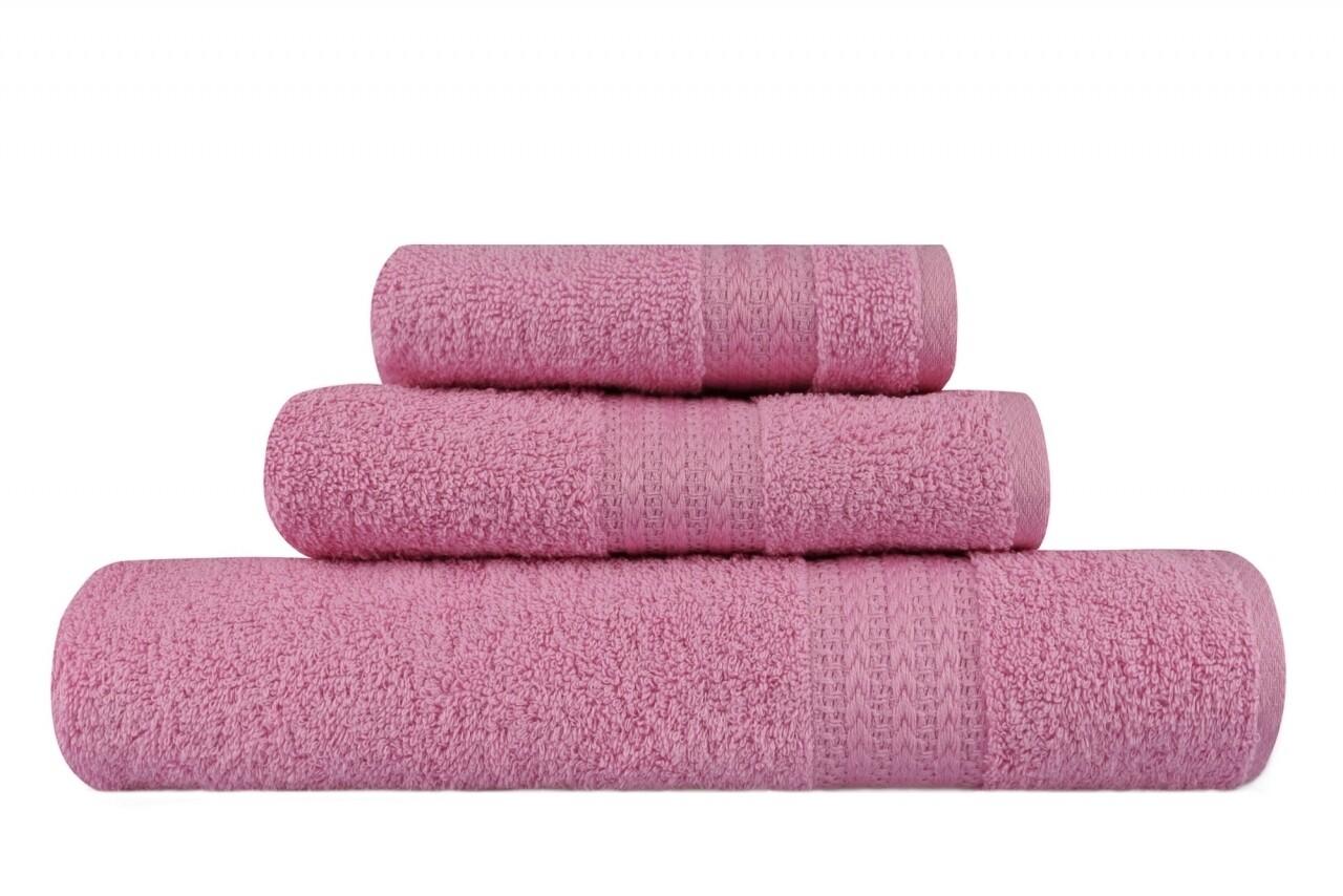 Set 3 prosoape de baie, 100% bumbac, Hobby, roz