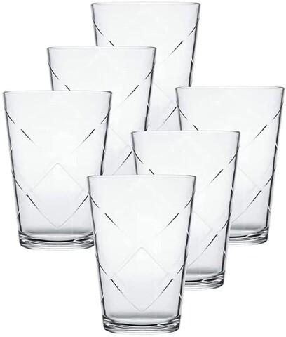 Set 6 pahare Maracatu, Nadir, 280 ml, sticla, transparent