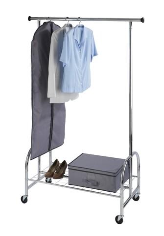 Suport mobil pentru haine, Wenko, Profi, 121 x 185 x 52 cm, metal/polipropilena