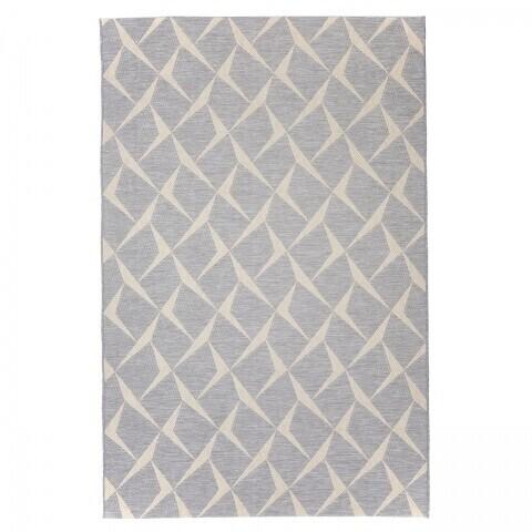 Covor indoor outdoor Rete Silver, Floorita 130 x 190 cm, polipropilena, bej/crem