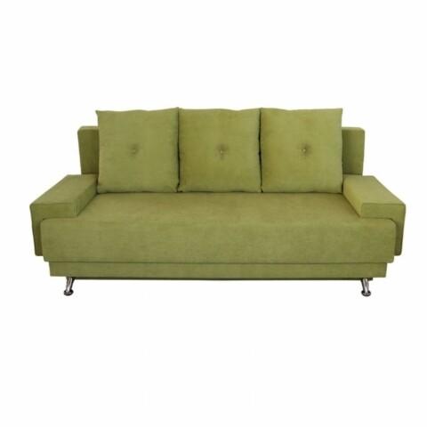Canapea extensibila Roma Lux Green 205x90x86 cm, cu lada de depozitare