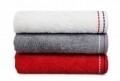 Set 3 prosoape de maini Beverly Hills Polo Club, 50x90 cm, 100% bumbac, White/Red/Grey