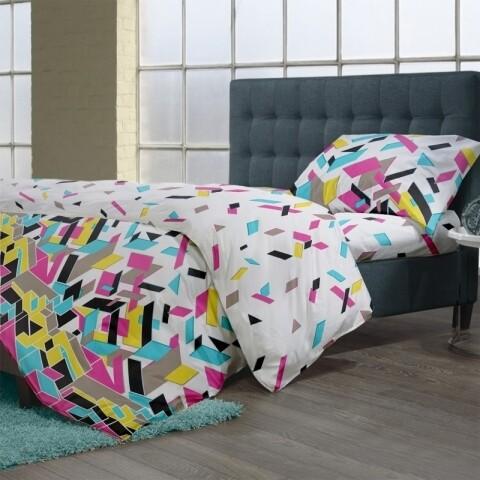 Lenjerie de pat pentru o persoana, Puzzle V.1, 100% bumbac, 3 piese