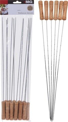 Set 6 frigarui pentru gratar, 38 cm, metal