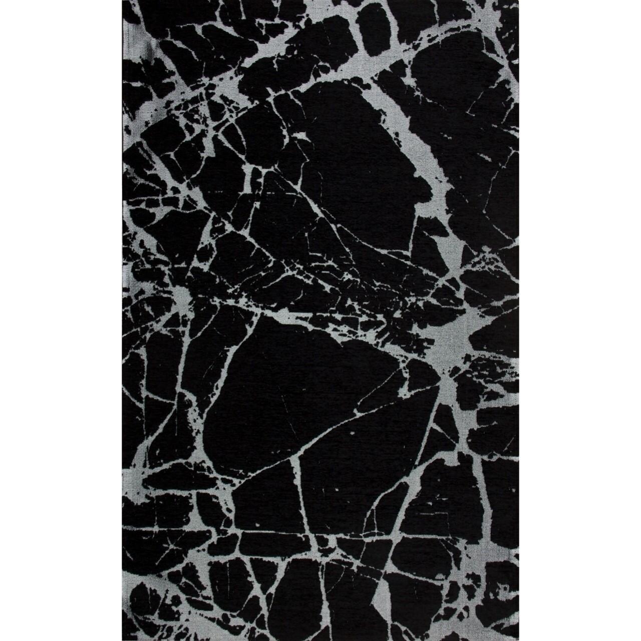 Covor rezistent SM 21 - Black, Silver XW, 80x300 cm