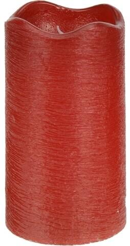 Lumanare Red cu LED, 7 x 13 cm, parafina, rosu