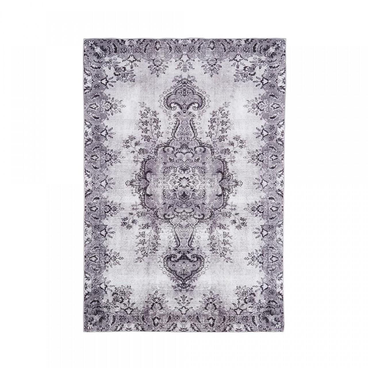 Covor Jasmine, Floorita, 160 x 230 cm, 70% poliester chenille, 30% bumbac chenille, gri