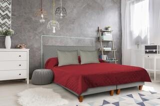 Cuvertura matlasata cu 2 fete Alcam, 210x220 cm, Pompeian