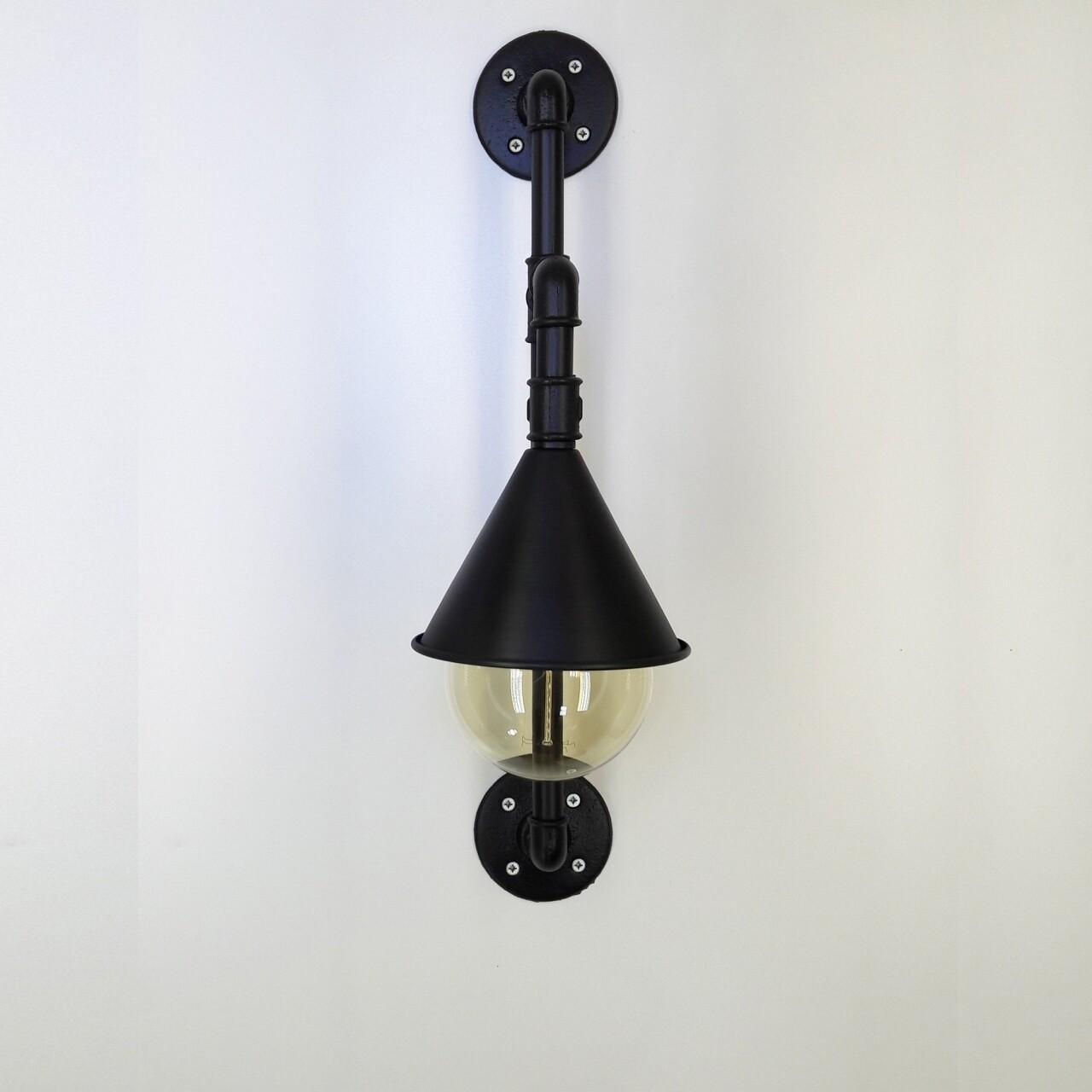 Aplica de perete All Design, metal, 16x30x61 cm, Black
