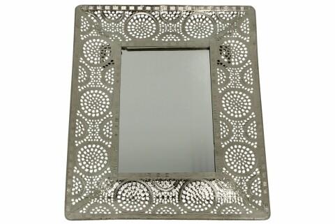 Oglinda Azur, Duo, 19.5 x 23 cm, sticla/metal, aramiu