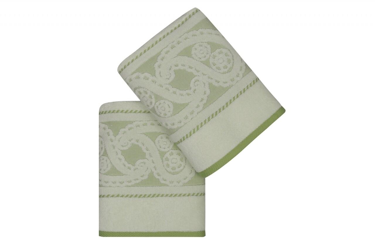 Set 2 prosoape de maini, Hobby, Hurrem, 50x90 cm, 100% bumbac, verde