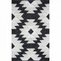 Covor rezistent Eko, AFR 01 - Black, White, 100% bumbac,  80 x 150 cm