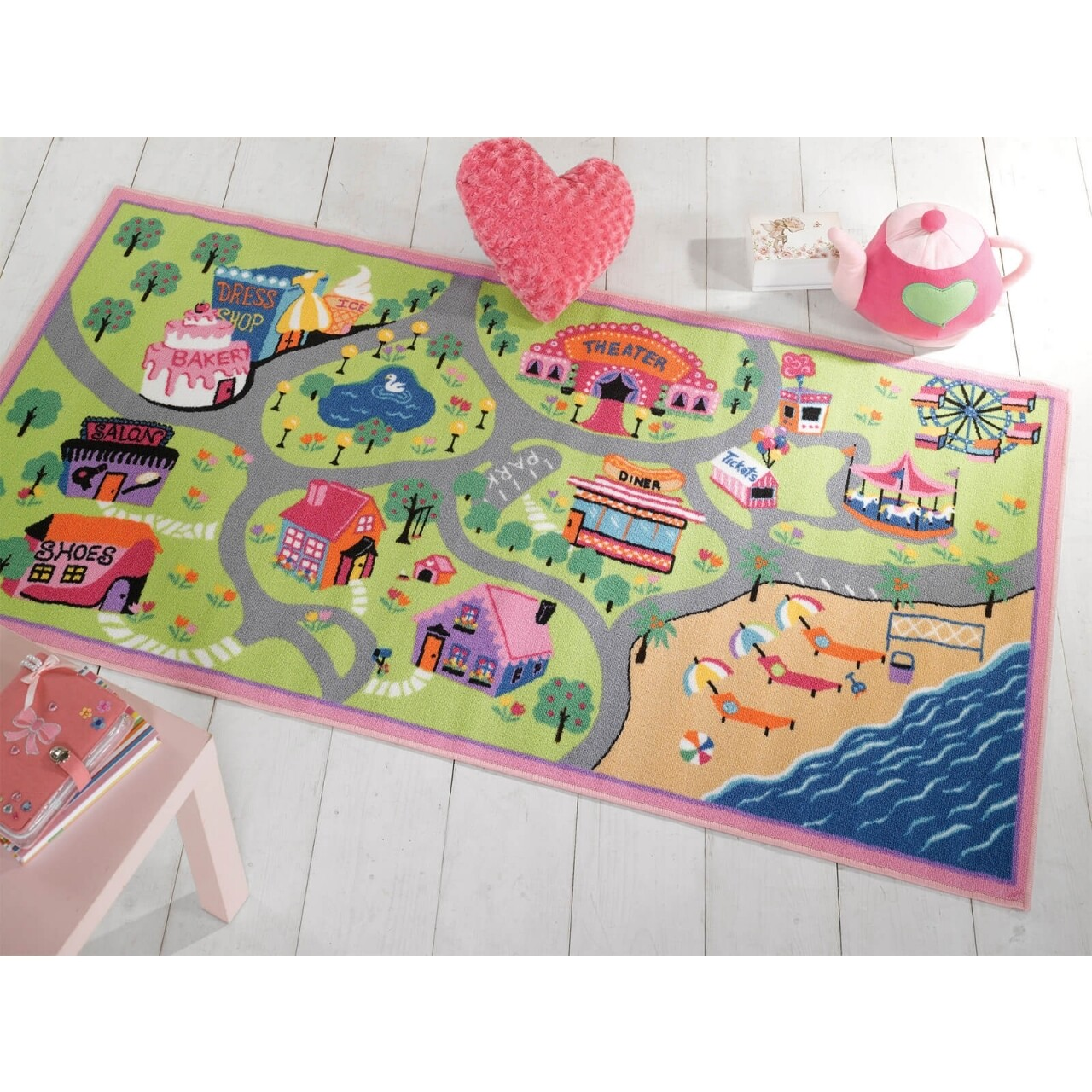 Covor Matrix Kiddy Girls World Multi 80X120 cm
