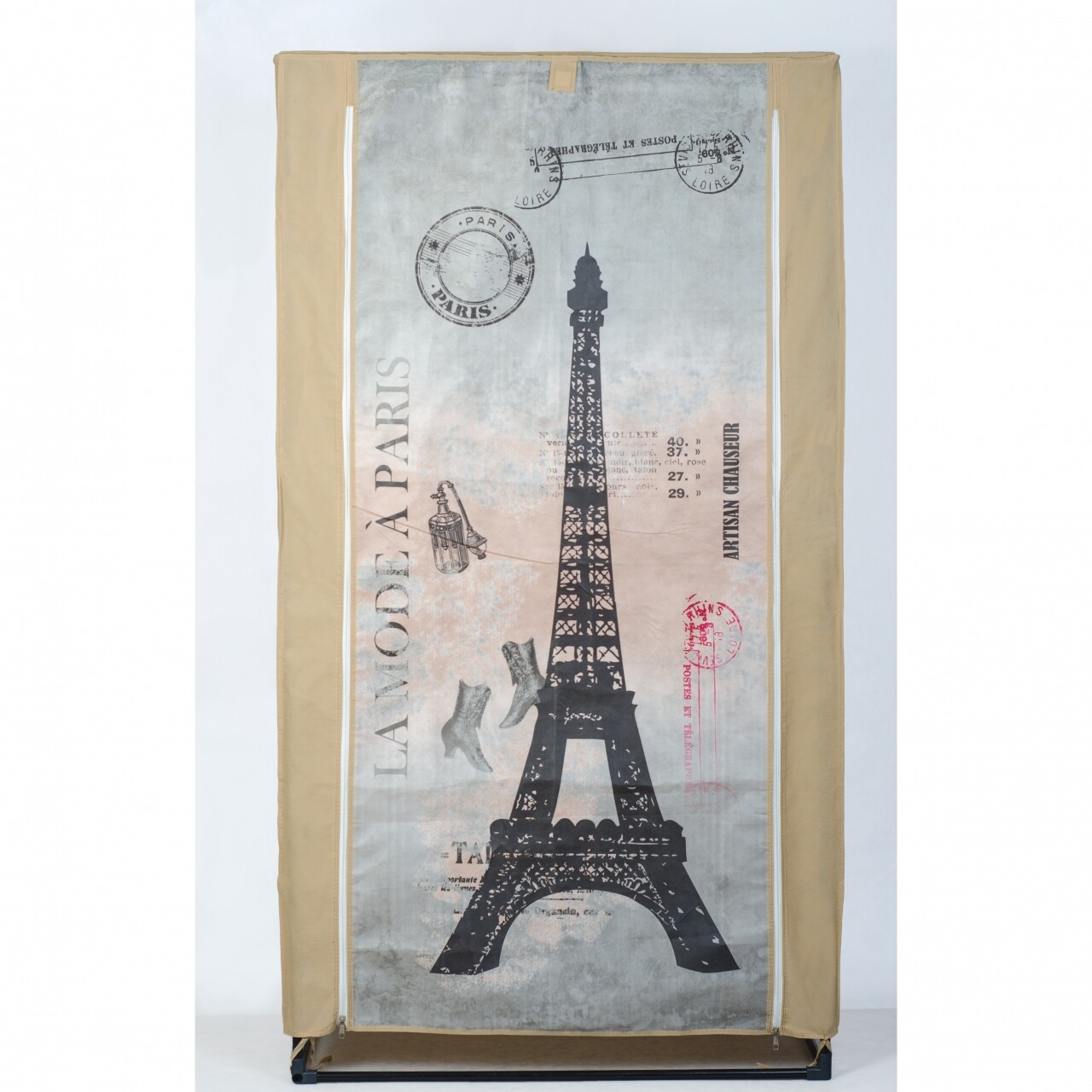 Dulap pentru haine Paris, Jocca, 156 x 46 x 87 cm, polipropilena, bej