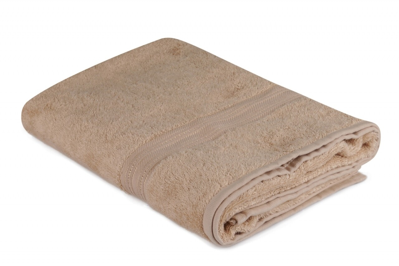Prosop de baie, Hobby, Lavinya - Dark Beige, 70x140 cm, 60% fibra de bambus si 40% bumbac, bej