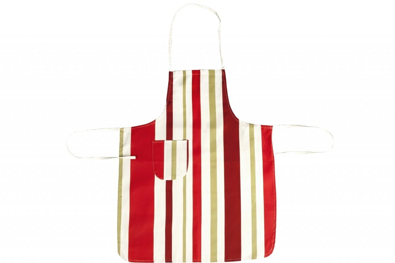 Sort de bucatarie, 100% bumbac, Red Stripes