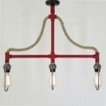 Candelabru All Design, metal, 70x9x65 cm, Red