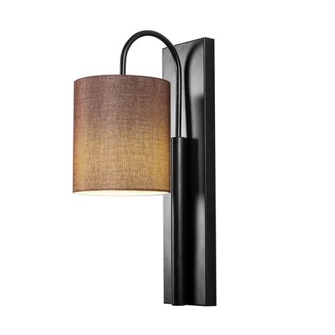 Aplica de perete, Opviq, Baston 3462, 10x42 cm, E27, 100 W, negru/maro