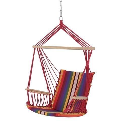Leagan gradina/terasa, Hammock, 55 x 90 cm, rosu/multicolor