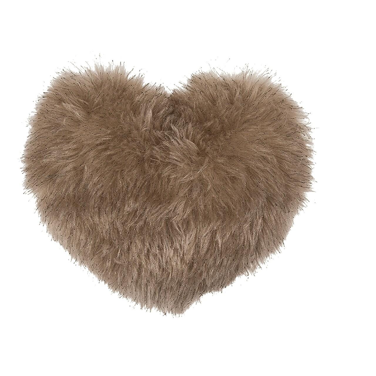 Perna decorativa Heart Fake Fur