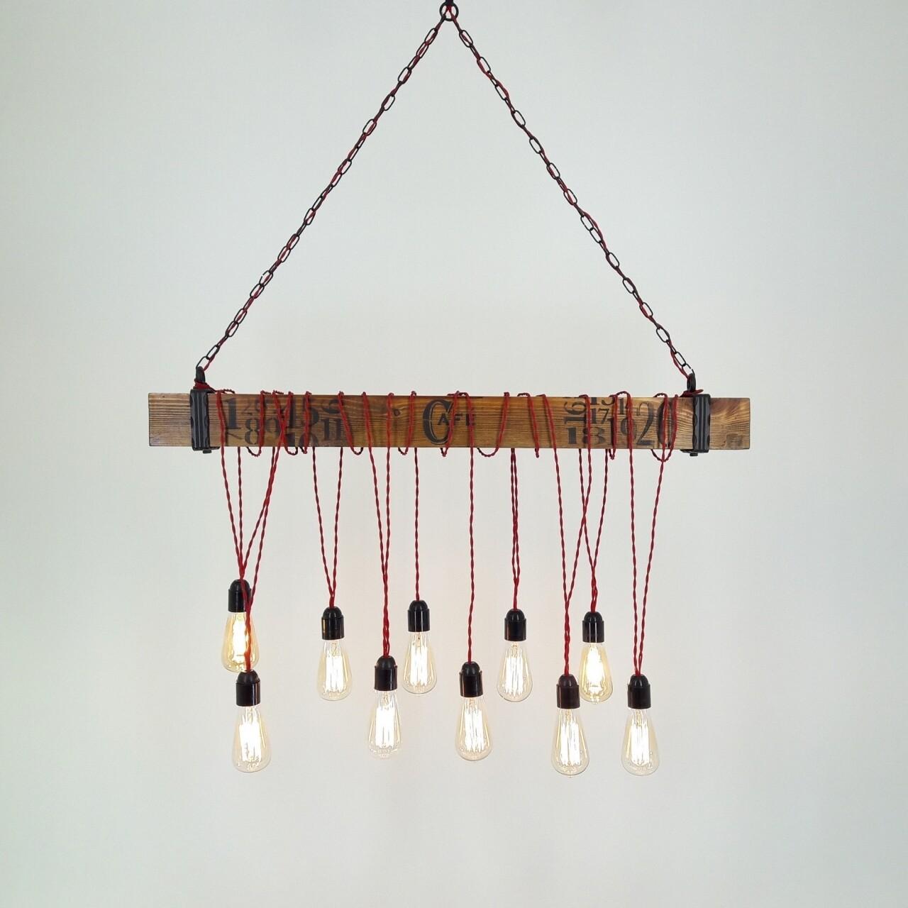 Candelabru All Design, handmade, 100x120x15 cm, White Walnut