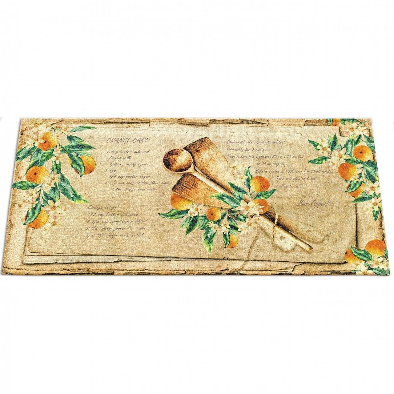 Covor rezistent Webtappeti Bon Appetit 60 x 115 cm, galben/bej