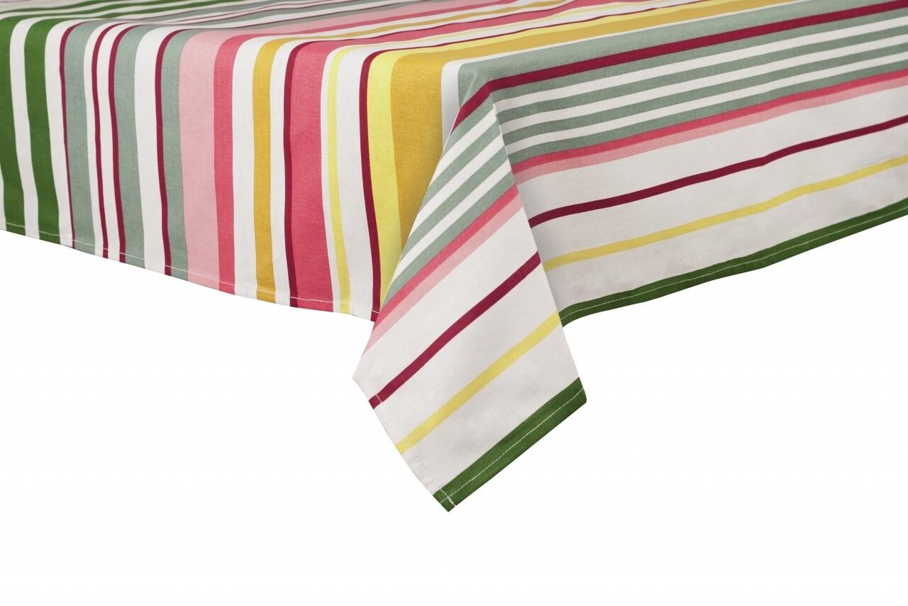 Fata de masa Pink Stripes, Heinner Home, 145 x 240 cm, 100% bumbac, multicolora