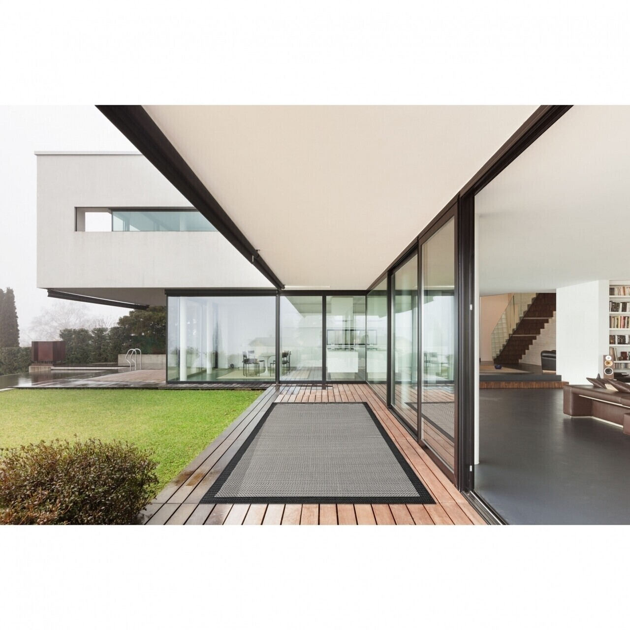 Covor indoor outdoor Floorita CHROME BLACK 160X230