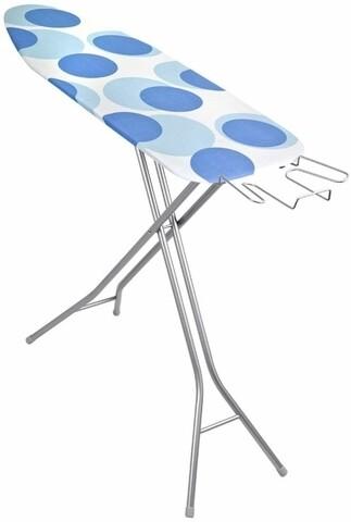Masa de calcat Vega Blue Circle, Metaltex, 33 x 109 cm, metal/bumbac/burete, bleu
