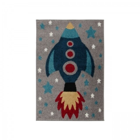 Covor Play Days Rocket Multi 80x120 cm, 100% polipropilena, multicolor