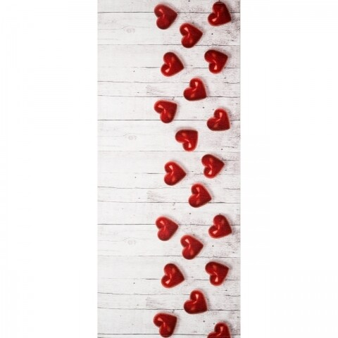 Covor rezistent Webtappeti Cuori Rossi 58x115 cm, brj/rosu