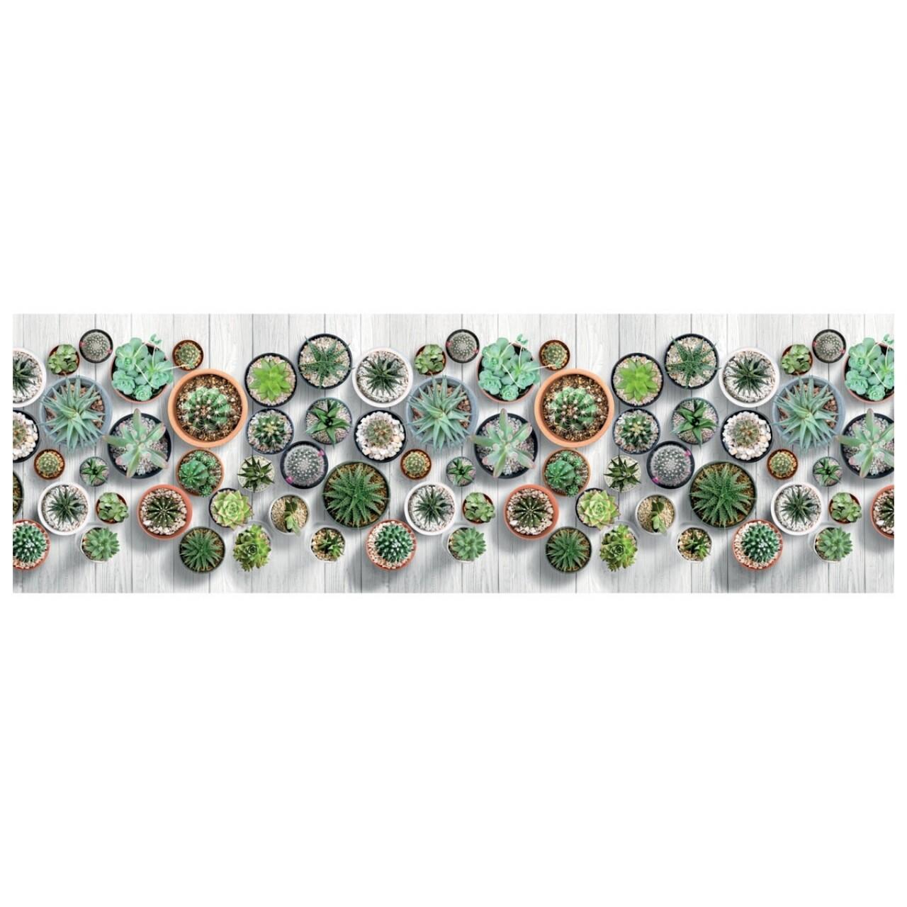 Covor rezistent Webtappeti Cactus 58 x 190 cm, multicolor