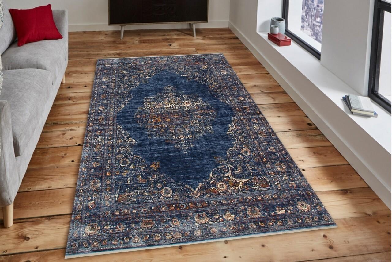 Covor rezistent Eko, ALT 01 - Navy, 100% poliester,  160 x 230 cm