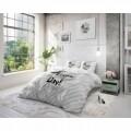 Lenjerie de pat pentru doua persoane Today is the Day White, Royal Textile,  100% bumbac
