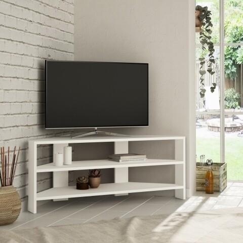 Comoda TV, Homitis, Thales Corner - White, 36x114x45 cm