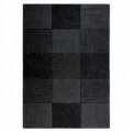 Covor Wool Squares Black , Flair Rugs, 110x 160 cm, 100% lana, negru