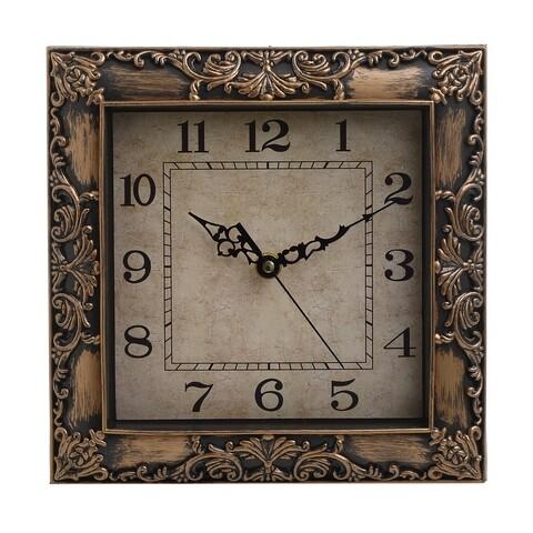 Ceas de perete Golden Antique, InArt, 23x23 cm, plastic, auriu
