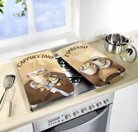 Set 2 protectii universale pentru aragaz Wenko Coffee
