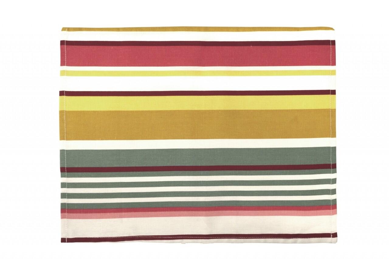 Suport pentru farfurie 35x45 cm, 100% bumbac, 100% bumbac, Pink Stripes