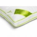 Perna Green Future NATURE, cu umplutura bambus si bilute fibra siliconica, 37 x 37 cm, Alb