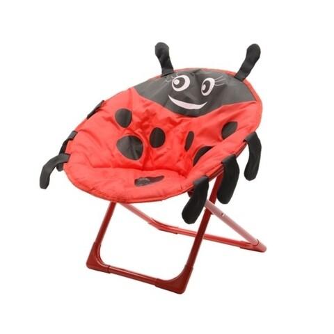 Scaun de gradina pentru copii Ladybug, Decoris, 52x42x48 cm, rosu/negru