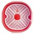 Recipient pentru gatit la aburi in cuptorul cu microunde, Snips Steamer, 2 L, polipropilena, rosu