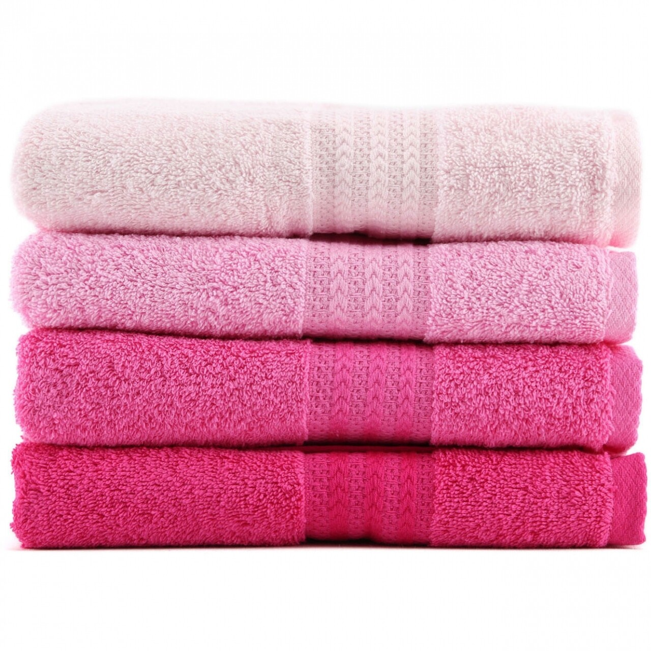 Set 4 prosoape de maini Pink Delight, Hobby,  50 x 90 cm, 100% bumbac, roz